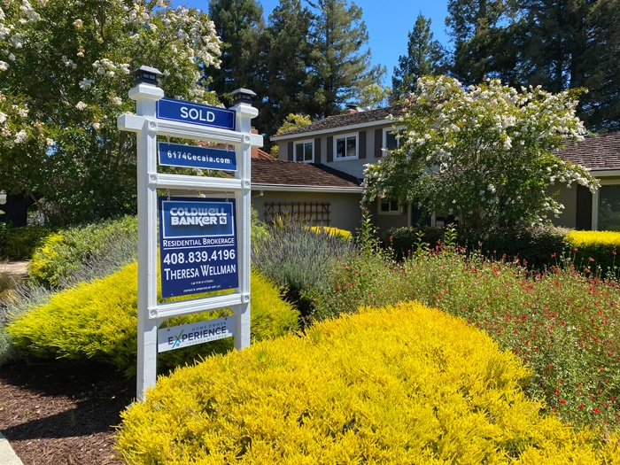 Almaden Valley Homes For Sale CB yard sign